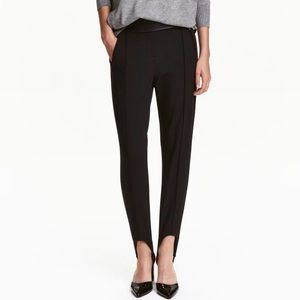 H&M Stirrup Trouser Pants Leggings - Black 4 Small